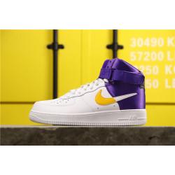 Nike Air Force High NBA Lakers White Yellow Purple
