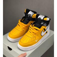 Nike Air Force High NBA Lakers Yellow White