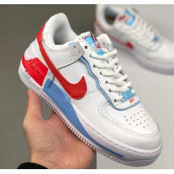 Nike Air Force 1 Shadow Swoosh White Red