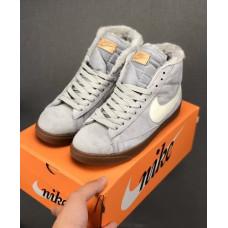Nike Blazer Mid VNTG Suede Зимние Серые с рыжим