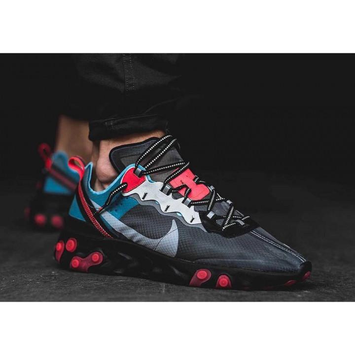 Nike React Element 87 сірі з голубим новий колір