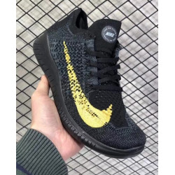 Nike free run rn flyknit 2018 черные