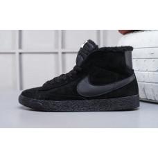Nike Blazer Mid VNTG Suede Зимние all black
