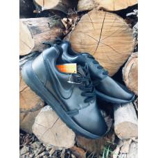 Nike Roshe Run кожа черные