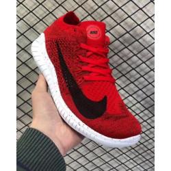 Nike free run rn flyknit 2018 красные