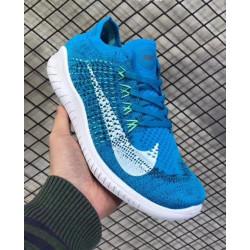 Nike free run rn flyknit 2018 синие