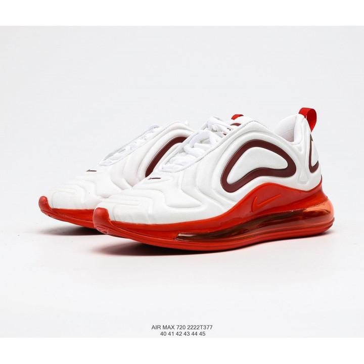 Кроссовки Nike Air Max 720, белые с красным