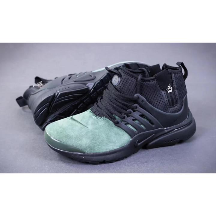 Кроссовки Nike Presto Mid Suede с зеленым