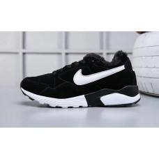 Nike air pegasus 92/16 с мехом кроссовки черные