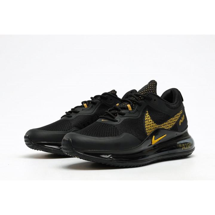Кроссовки Nike Air, Max 720 OBJ черный золотой