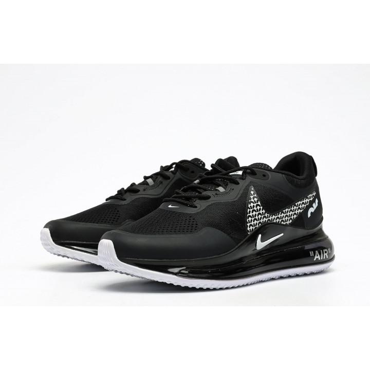 Кроссовки Nike Air, Max 720 OBJ черный с белым лого