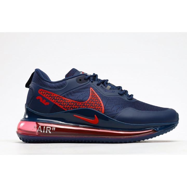 Кроссовки Nike Air, Max 720 OBJ синие с красным лого