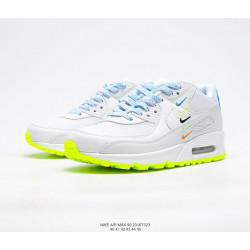 Nike Air Max 90 белые с салатовым