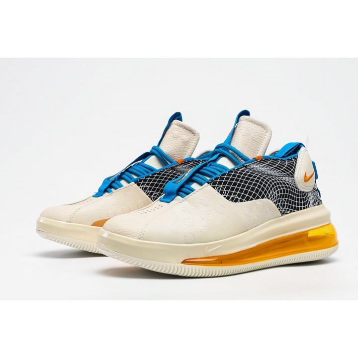 Кроссовки Nike Air Max 720 Waves, белый с оранжевым