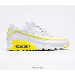 Nike Air Max 90 белый с желтым