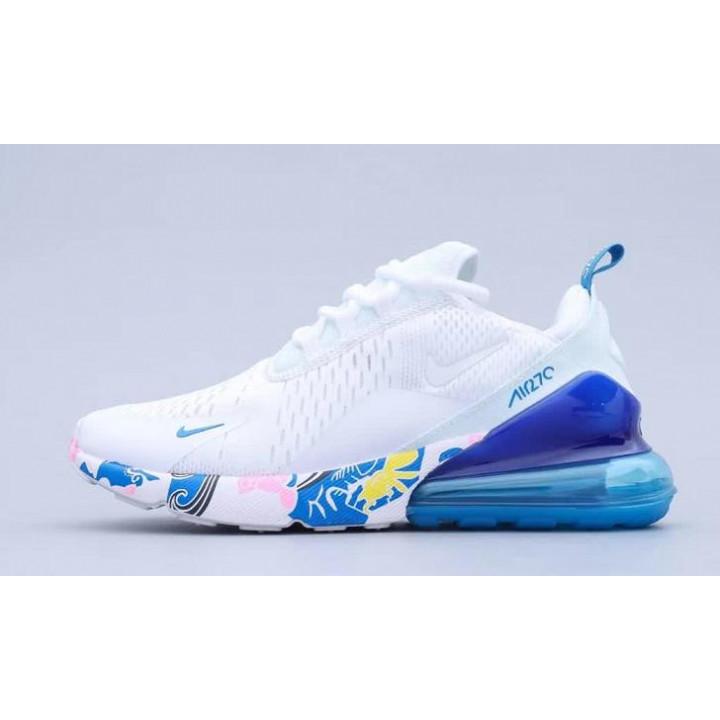 Кросівки Nike Air Max 270 білі з квітами новинка 2020