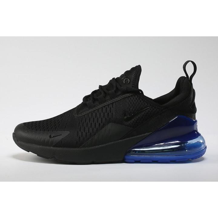Nike Air Max 270 черные кроссовки с синим
