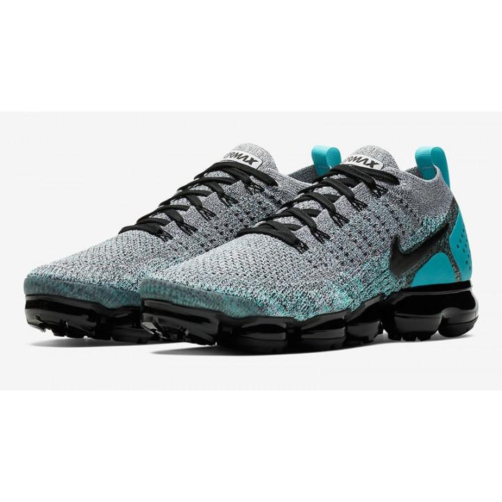 Кроссовки, Nike VaporMax 2,0 серые с бирюзой