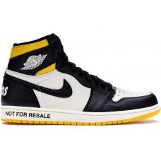 Air Jordan 1 Not For Resale black yellow