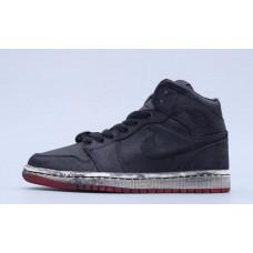 Air Jordan 1 Mid Fearless Edison Chen CLOT Black