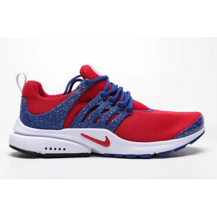 Кроссовки Nike presto, синие с красным лого