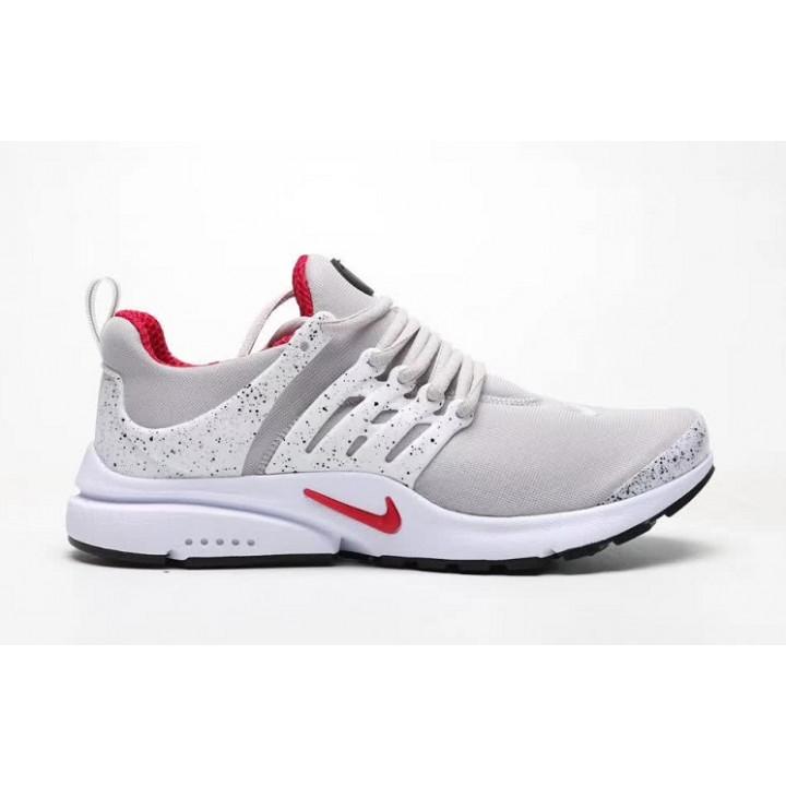 Кроссовки Nike presto, белые с красным лого