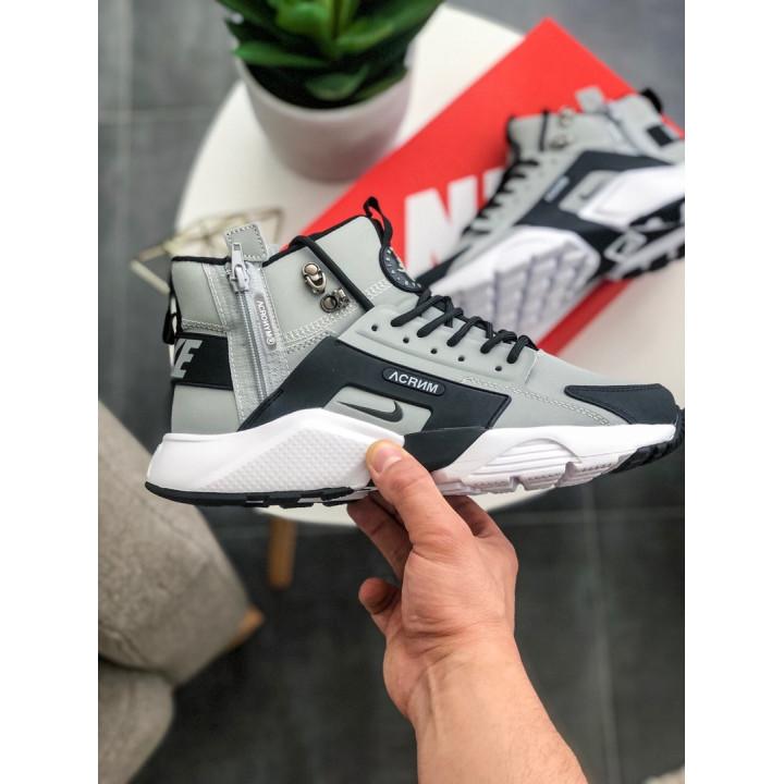 Кроссовки Nike Huarache Winter, Acronym серые