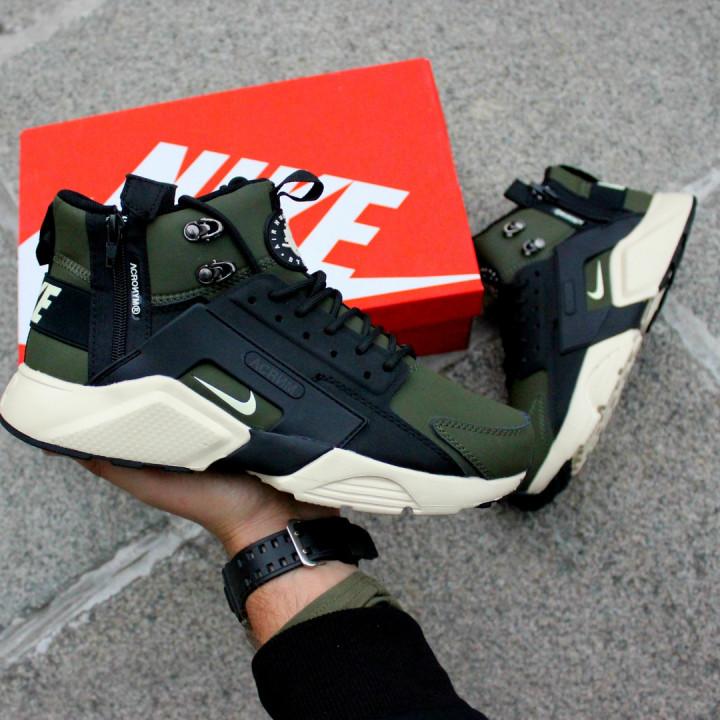 Кроссовки Nike Huarache Winter, Acronym хаки