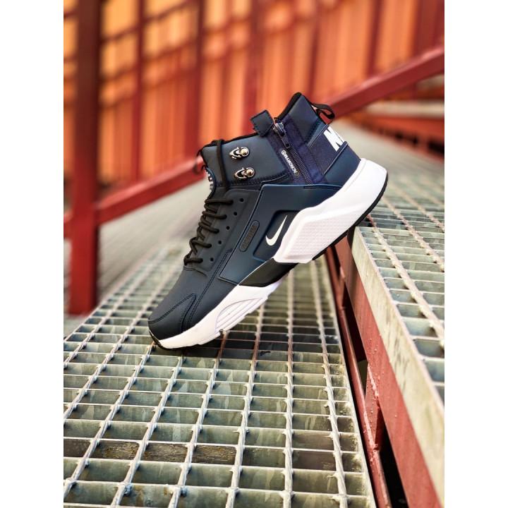 Кроссовки Nike Huarache Winter, Acronym синие с белым