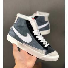 Nike Blazer Mid 2019 Suede Зимние grey