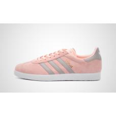 Adidas Gazelle розовые с серым