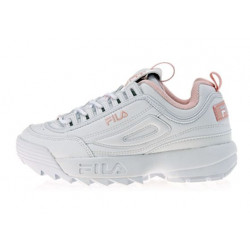 FILA Disruptor II All White rose