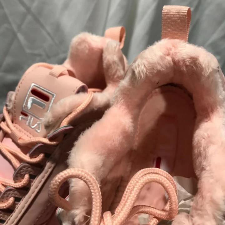 Кроссовки Fila Disruptor розовые утепленные