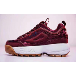 Fila Disruptor V Low WOMENS RED VELVET
