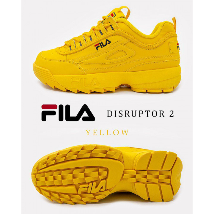 Кросівки Fila Disruptor повністю жовті