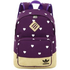 Рюкзак Adidas сиреневый в сердечки