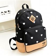 Рюкзак Adidas черный в сердечки