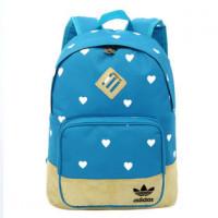 Рюкзак Adidas голубой в сердечки